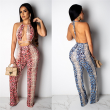 Women Lady Snake Print Bandage Evening Party Women Casual Shinny Crop Top Shorts
