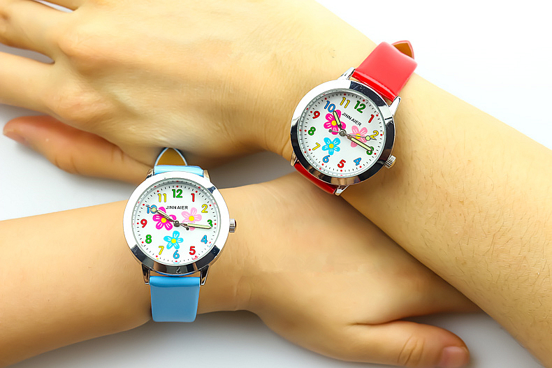 2018 Little Girls Love Dial Quartz Watch High Quality Kids Casual Leather Dress Watch Child Dress Gift El Reloj Clock Back To Search Resultswatches