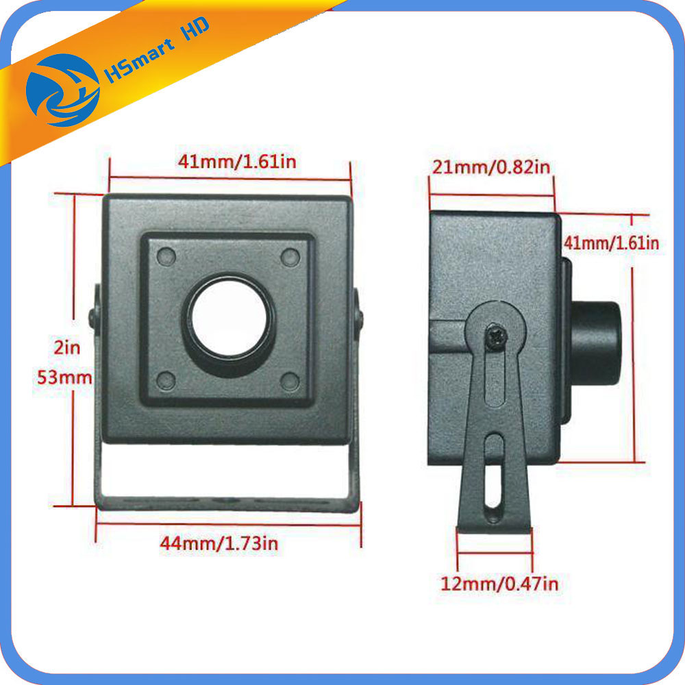 CCTV Metal Mini Box Camera Housing / Case For sony ccd 38x38 AHD 1080P IP Cam PCB (No Lens Camera Board) dvr Surveillance System wistino cctv camera metal housing outdoor use waterproof bullet casing for ip camera hot sale white color cover case