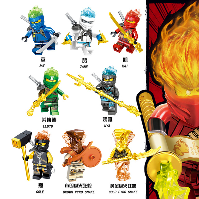 1pcs Ninja Mini action Figures Building Blocks Kids 5