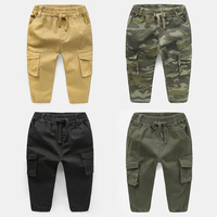 Fashion Cotton Children Cargo Pants Baby Boys Camouflage Trousers Kids Child Casual Pants Army Camouflage Harem