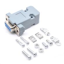 Socket-Connector Plug D-SUB DB9 RS232 Female Solder-Type with Case 5PCS 9-Pin 2-Rows