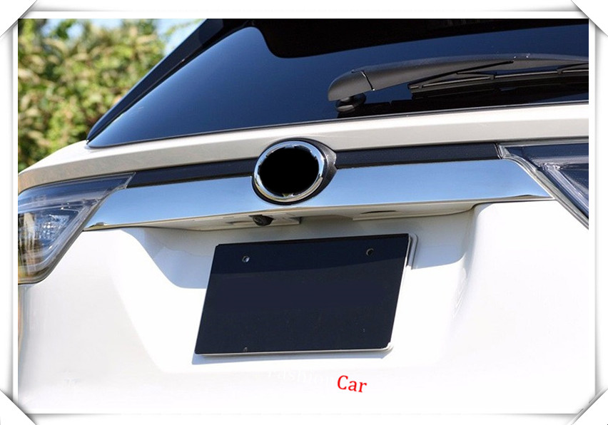 For Toyota Harrier 2013 2014 2015 2016 XU60 1pcs Stainless stainless rear trunk cover trim decoration car styling