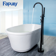 Fapully Oil Rubbed Bronze Floor Mount Bathtub Faucet Hand Shower Set Sprayer Mixer Faucet Bathroom Shower Bath Tub цена