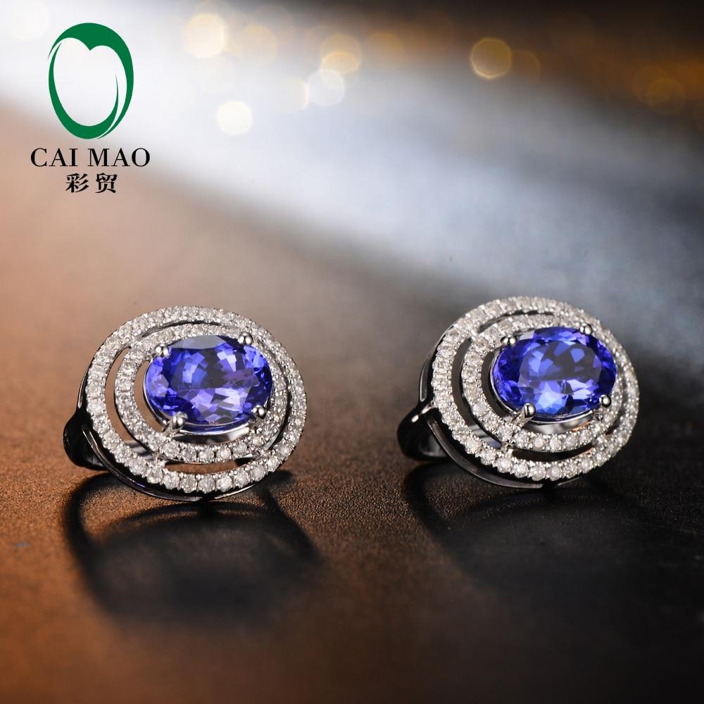 Caimao Calssic Anniversary Blue 1.92CT Tanzanite & 0.48ct Diamant - Bijoux - Photo 3