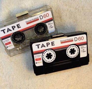 Acrylic Handbag transparent tape cassettes evening clutch bag hard box clutch high-end hand bag small party purse handbags