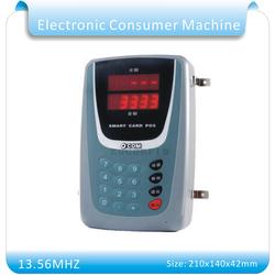 OFA3-2 máquina de consumo electrónico de doble pantalla de 13,56 MHZ/máquina de consumo RFID de 13,56 mhz DC-9V + 50 Uds de tarjetas