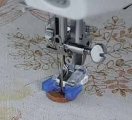 IPCS BROTHER MULTIFUNCTIONAL DOMESTIC SEWING MACHINE PRESSER FOOT BUTTON # 7305 / SEW-ON BUTTON FOOT