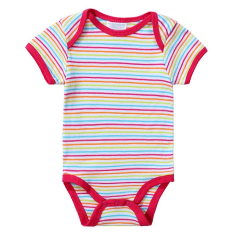 2018 Newly Baby Bodysuits 100% Cotton Infant Body Short Sleeve Clothing Jumpsuit Cartoon Animal Printed Baby Boy Girl Bodysuits (11)