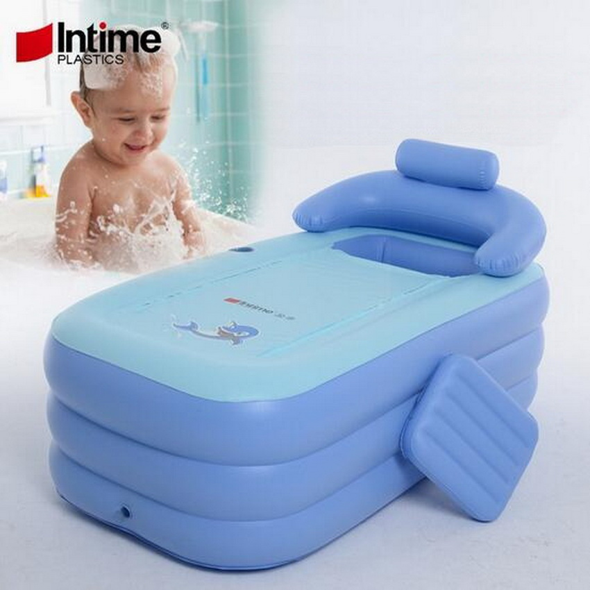 Adult inflatable tub, folding pool bath tub warm bath. Adults and children are applicable adult kids inflatable pool pvc folding portable bathtub inflatable bath tub size160 84 64cm with air pump spa swimming pool