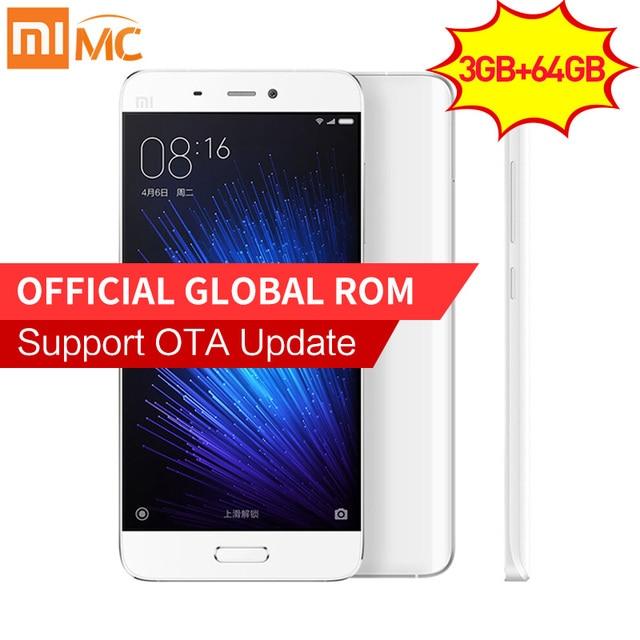 Original Xiaomi Mi5 Prime 3GB RAM 64GB ROM Mobile Phone Mi 5 Snapdragon 820 Quad Core