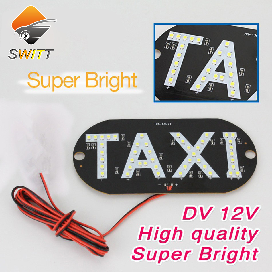 Wholesale Taxi led light Auto indicator lamp Vehicles Car Windscreen Cab Sign White LED Taxi lamp 12V car styling free shipping