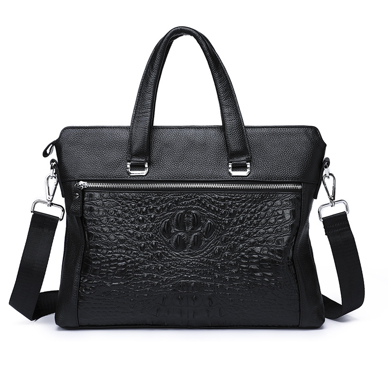 Crocodile Briefcase Business Commercial Laptop Bag Genuine Leather Men Handbag Messenger Tote Bag Casual Shoulder Messenger Bag usa free ship 3pcs nema23 wantai stepper motor 428oz in 57bygh115 003b dual shaft 3a