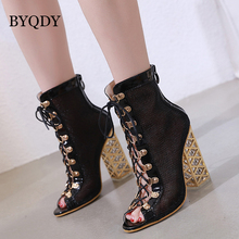 BYQDY 2020 New Summer Sandal Sexy Golden Bling Gladiator