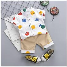 2019 Summer Kids Children Clothes Suits Baby Boys Clothing Sets Cartoon T Shirt  Shorts Infant Toddler Casual Suit цена и фото