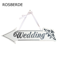 Wooden Wedding Sign High End White Guide Welcome Card Personalized Wedding Decorations Wholesale