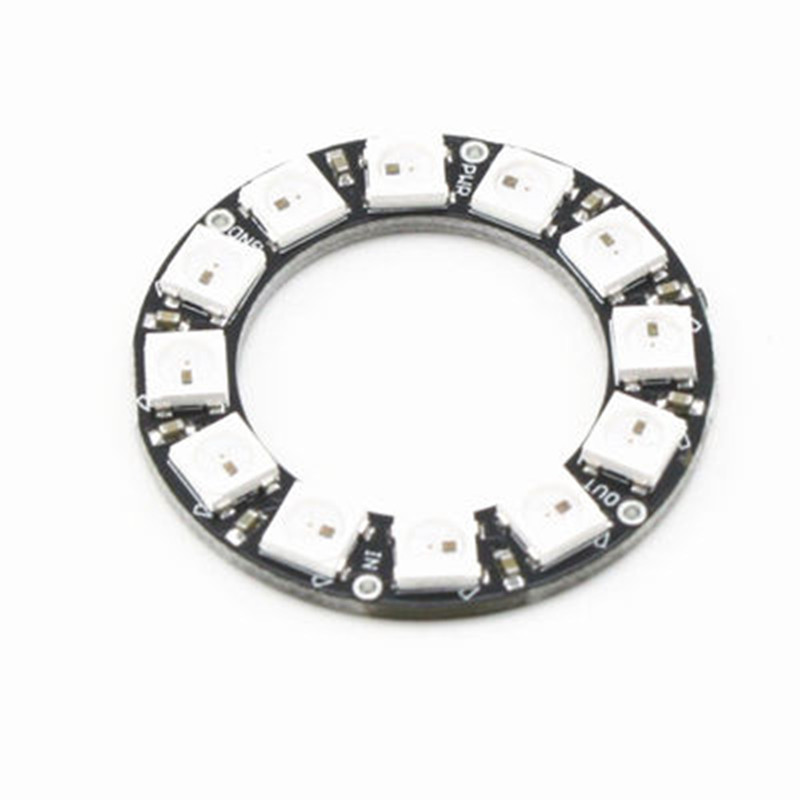 rgb led ring 12 bits ws2812 5050 rgb led with integrated driver module for arduino