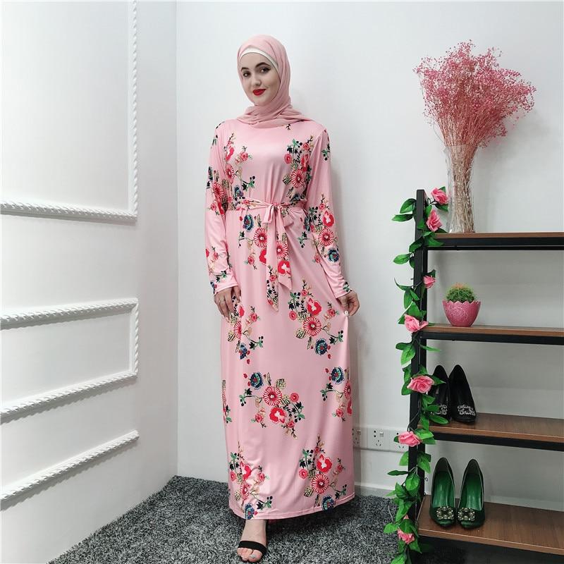 Floral Abaya Robe Femme Dubai Islam Hijab Muslim Dress Caftan Marocain Kaftan Abayas For Women Ramadan Tesettur Elbise Clothing