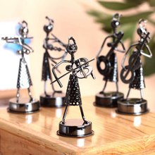 Color Random! Home Decor Model Band Musicians Figurines Miniatures Arts And Crafts For Gift(China)