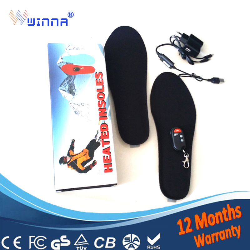 Electrically Heated insoles with wireless Women insoles remote control insoles outdoor Skiing mountain camping pad FREE
