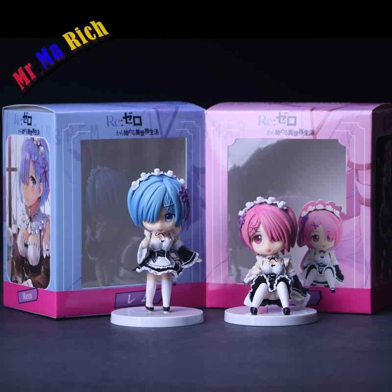 Re: нулевая стартовая жизнь в другом мире Rem Ram ПВХ Фигурки Коллекционная модель куклы детские игрушки куклы 8 см