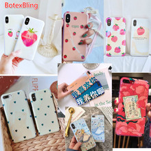 Fruit peach cute cartoon Alice love soft phone case for iphone X cover for iphone 7 7plus 8 8plus 6 6s plus 6plus girl case busy