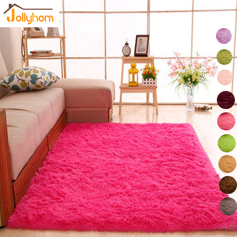 Long Hair Solid <font><b>Carpet</b></font> Shaggy Area Rugs Anti-Slip <font><b>Carpets</b></font> for Living Room Bedroom Hotel Rectangle <font><b>Carpet</b></font>-Accept Custom