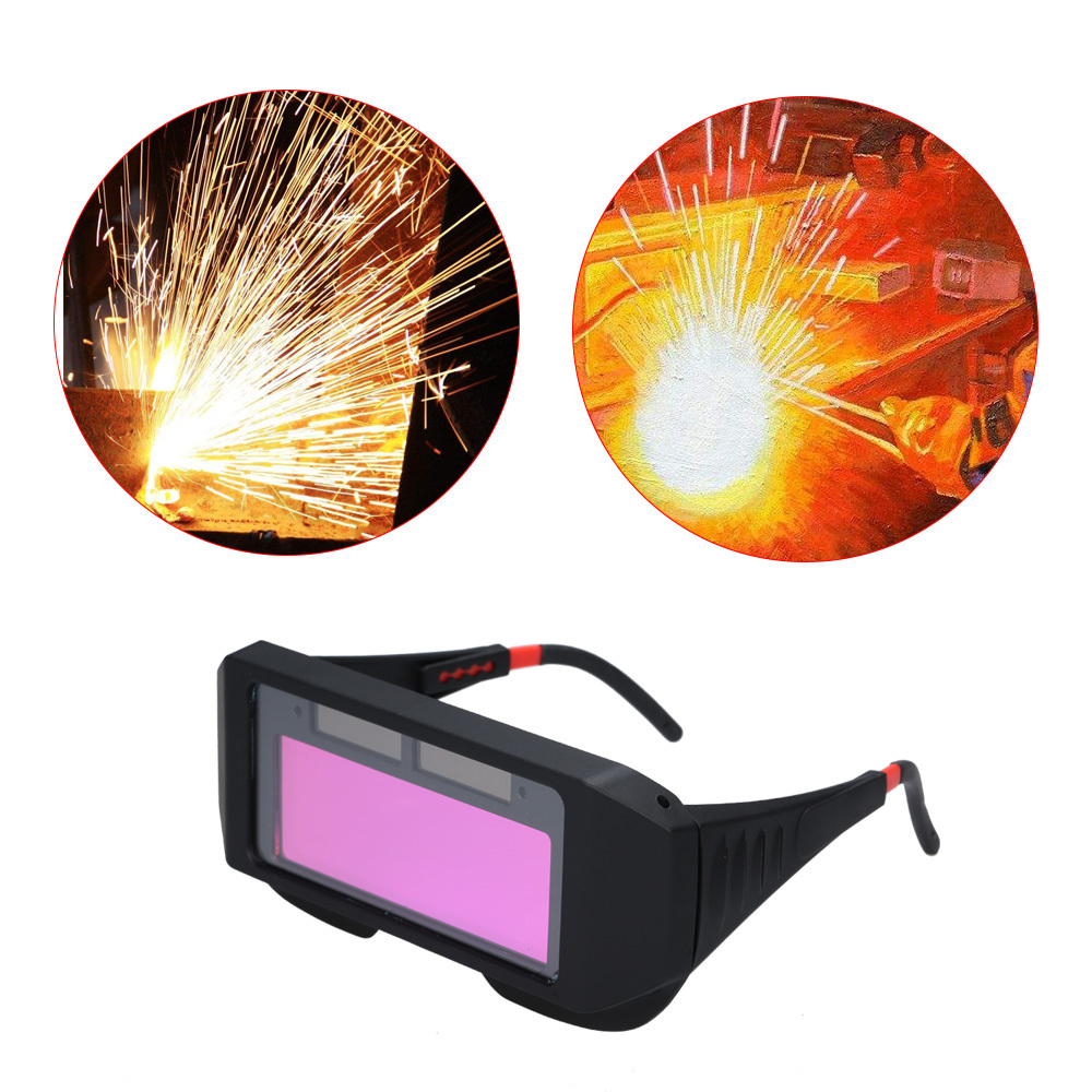 Solar Powered Auto Darkening Welding Glass Photoelectric Welding Mask Helmet Practical Eyes Goggle Workplace Safety Protection
