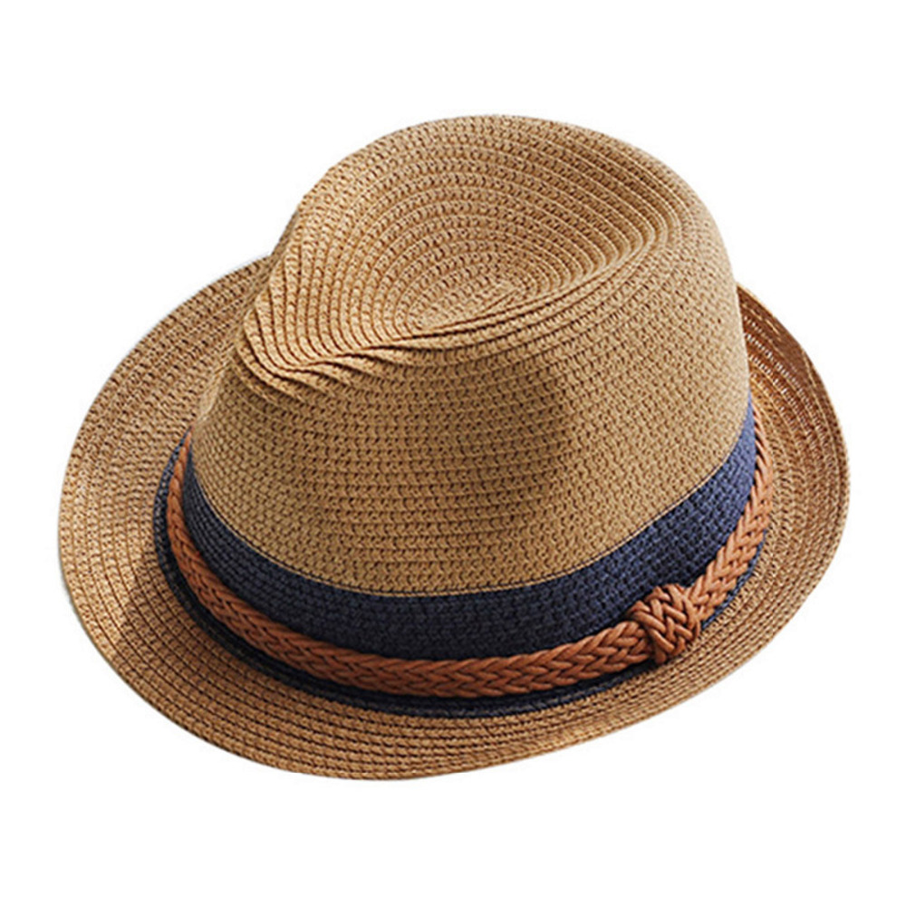 3416bea3fe6 Detail Feedback Questions about Summer Jazz Women Straw Hat Beach Men Sun  Hat Casual Panama Male Cap Hemp Rope Patchwork Striped Straw Hat Visor Cap  on ...