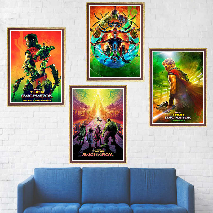 Thor Ragnarok Movie Poster 2017 New Marvel Film coated paper wall poster wall stickers
