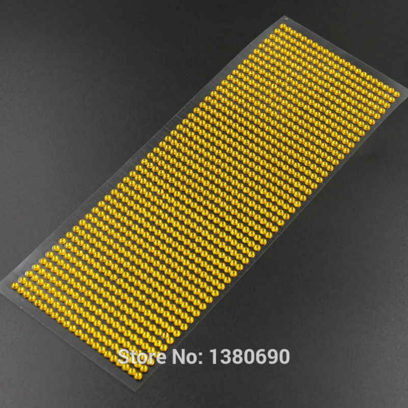 ... 900pcs set 4mm Colour Crystal 3D Individuality Creative Sticker Sticker  Diamond DIY Rhinestone Table Car ... 39bd3e515b4b