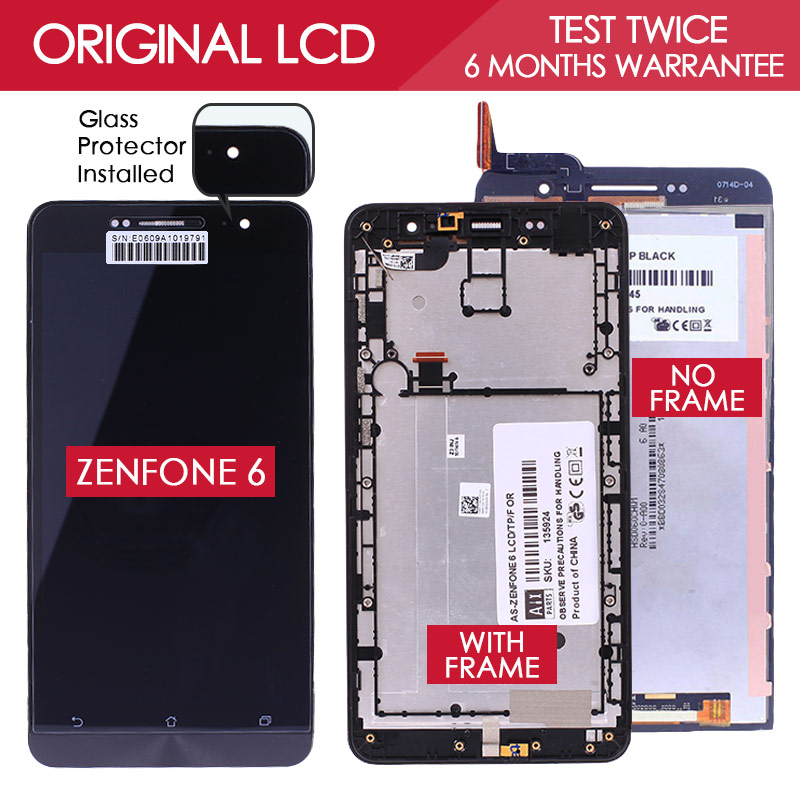 100 Tested ORIGINAL 1280x720 LCD For ASUS Zenfone 6 Display Touch Screen A601CG A600CG T00G Digitizer