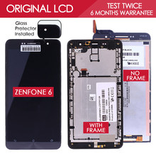 100% Tested ORIGINAL 1280×720 LCD For ASUS Zenfone 6 Display Touch Screen A601CG A600CG T00G Digitizer Assembly Free Protector