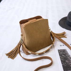 Image 5 - Bolish Women Fashion PU Shoulder Bag Female Vintage Daily Shopping Handbag All Purpose Tassel Messenger Bag Causal Dames Tassen