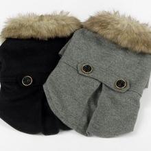 Одежда для домашних животных осенняя и зимняя одежда сплошной цвет воротник вязаная одежда для собак
