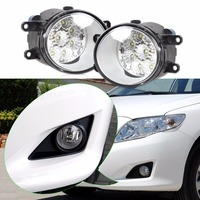DWCX 2pcs Round Front Right Left Fog Light Lamp Daytime Driving Running Lights For Toyota Camry