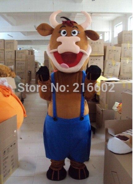Haute qualité Nouveau Bull Ox Vache Mascotte Costume Fancy Dress Outfit Livraison Gratuite