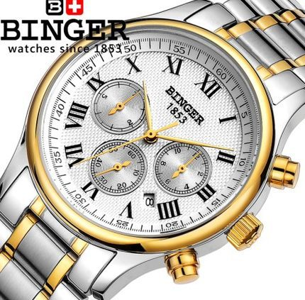 ФОТО Bling Binger Watches Women Girl Men Unisex Automatic Watch Geneva Stainless Steel Strap Analog Mer Wristwatch Freeshipping