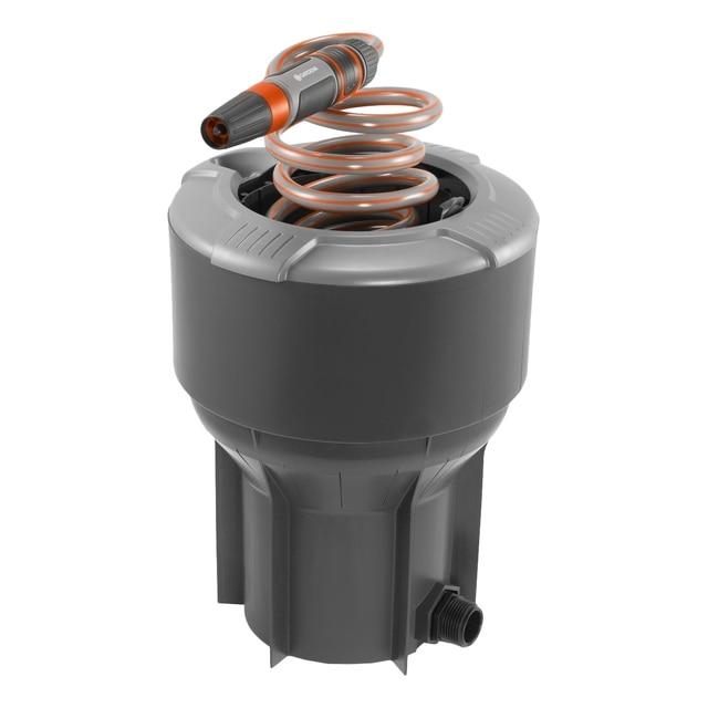 Колонка водозаборная GARDENA 08253-20.000.00 (Спиральный шланг 20 м., наконечник с автостопом, крышка)