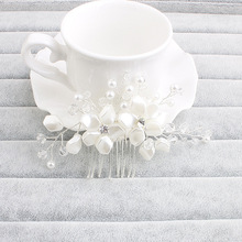 2017 New Arrival Art Deco Clear Rhinestones Crystals Pearls Flower Leaf Wedding Hair Comb Bridal Hair