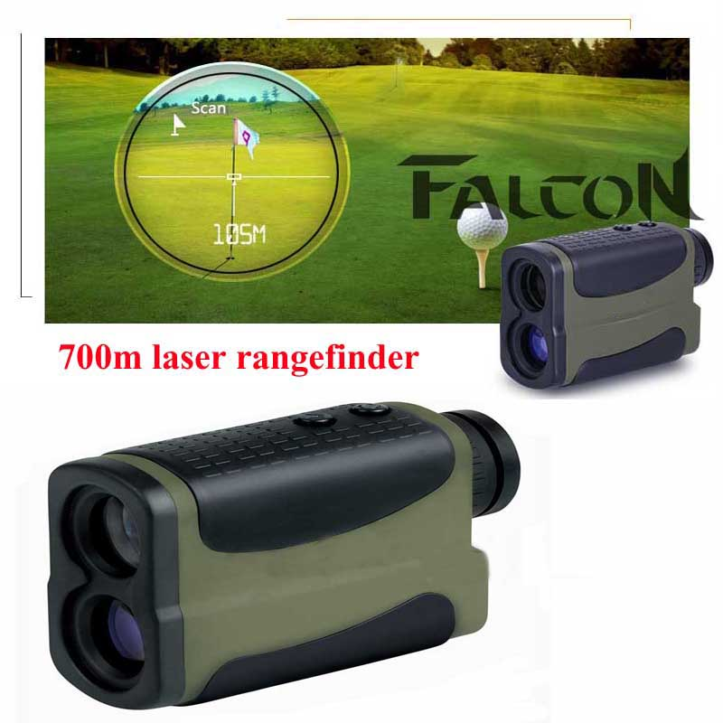 700m Laser Rangefinder Finder Monocular Telescope Hunting Range Outdoor Ranging Speed Tested Distance Measuring Device 10X25 1200m hunting monocular telescope golf laser range distance meter rangefinder range finder with angle height speed measurement