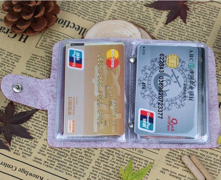 Mode 24 Bits Nützliche Business Kreditkarte Halter PU Leder Schnalle Karten Halter Organizer Manager Für Frauen Männer Freies Verschiffen