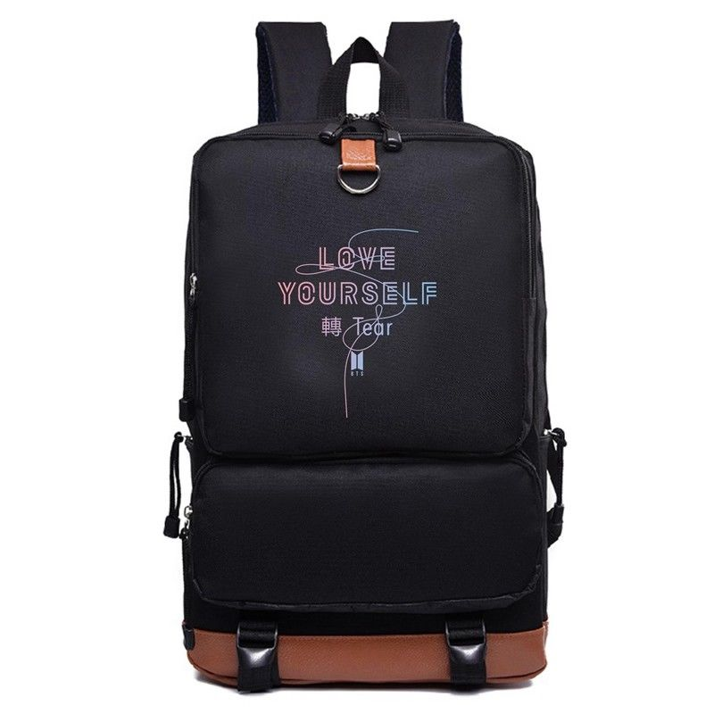 KPOP Bangtan Boys BTS LOVE YOURSELF Tear Backpack Bookbag Shoulder Bag Suga V Back to Sc ...