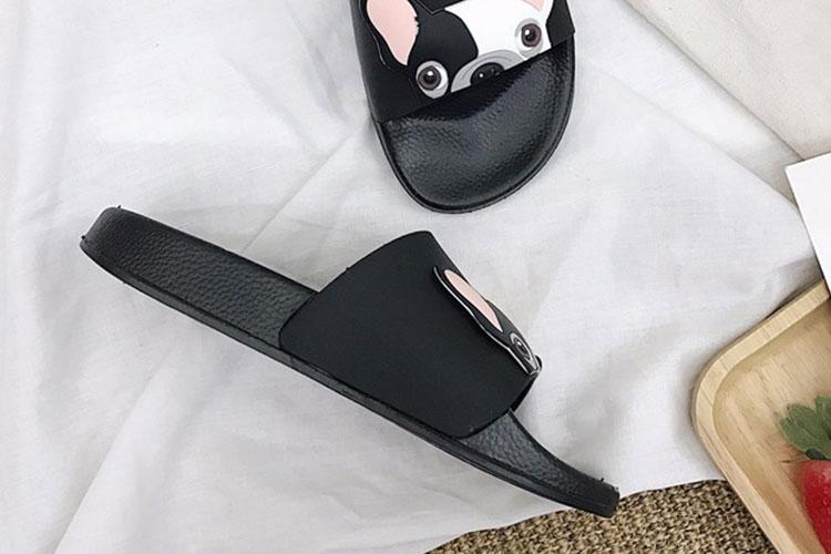 18 Fashion Animal Bulldog Slippers Summer Sandals Beach Flip Flops Skid Indoor Woman Shoes Women Slides zapatillas Mujer 10