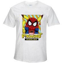 BTFCL Marvel The Avengers END GAME Tshirt Men Superhero Spiderman Pikachu Print T Shirt Comic Cartoon Tops Camiseta