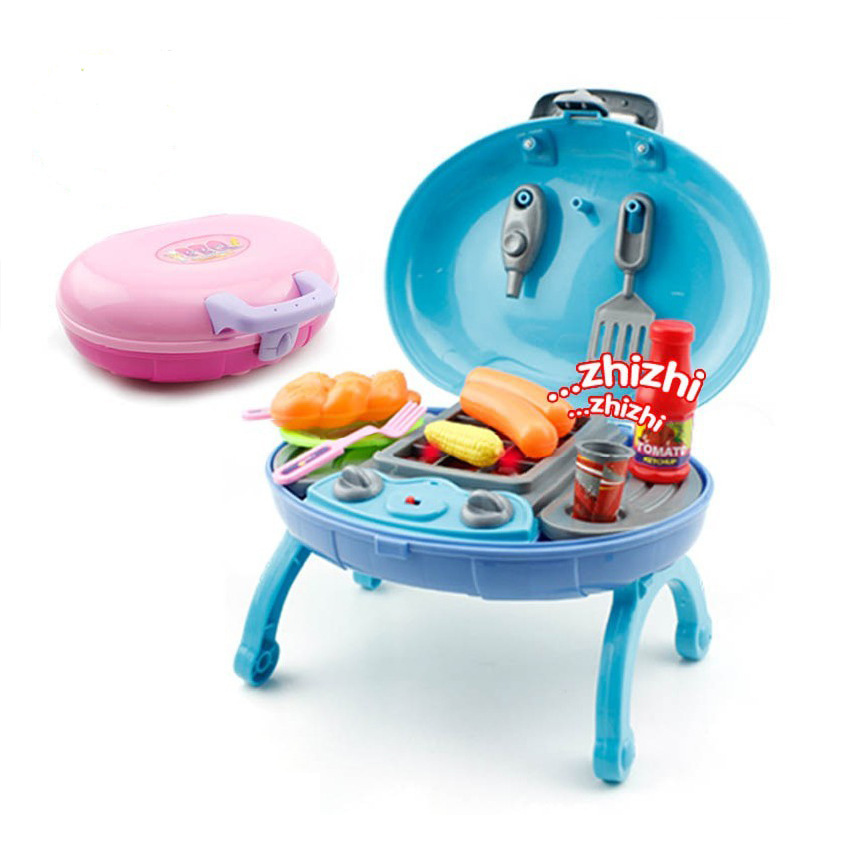1 2 Bbq Toys Set 12pcs In1 Flash Sound Portable Oval Shaped Age3 Play House Multicolor Family Child Gift Kitchen Miniature