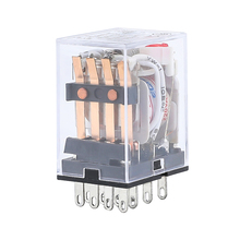 цена на HH54P MY4NJ 4NO 4NC Electromagnetic Relays AC 220V AC 110V DC 24V DC 12V 3A Power Relay Switch Silver Contacts 4PDT 14 Pin LED