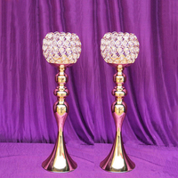 42cm Tall wedding table centerpiece gold candle holder wedding party decoration 10pcs/lot