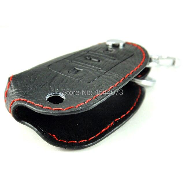 Натуральная кожа раскладной брелок ключ держатель чехол мешок крышка черный 3 кнопки для VW гольф GTi Jetta EOS Magotan Passat B6 CC