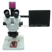 Cheaper Continuous zoom binocular visual 7-45X Trinocular stereo microscope+1080P HDMI HD USB Microscope Camera+8″ HD Monitor